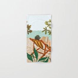Vacay Book Club #illustration #tropical Hand & Bath Towel