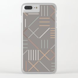 Geometric Shapes 06 Clear iPhone Case