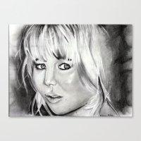 jennifer lawrence Canvas Prints featuring Jennifer Lawrence by Papa-Paparazzi