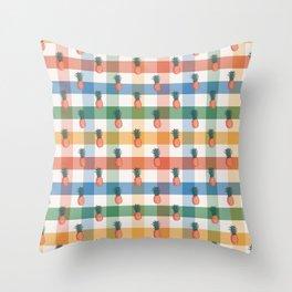 Fruity pineapple picnic Throw Pillow