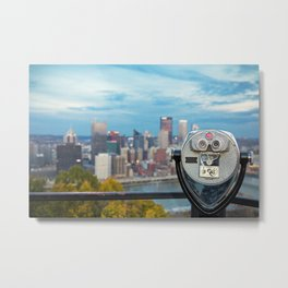 View Of Pittsburgh, Pennsylvania Metal Print