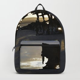 Wreck of the Peter Iredale at sunset Backpack