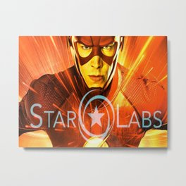 The Star Of Star Labs Metal Print