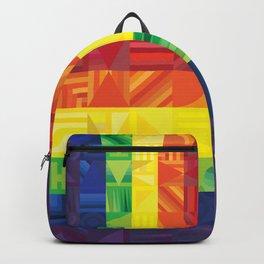 Rainbow Geometric Backpack