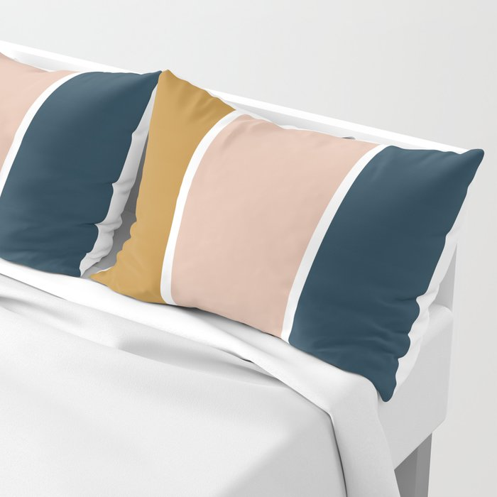 Retro Autumn Color Block Pillow Sham