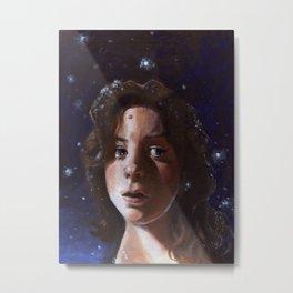 Delia, Fine Art Oil Painting Portrait Print Metal Print