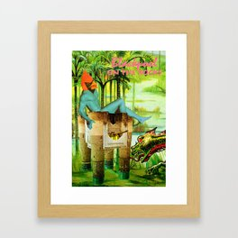 Vote for Donkey and Elephant! Now! Framed Art Print