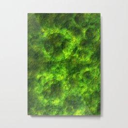Green asteroid pattern Metal Print
