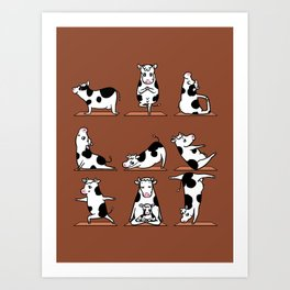 Moo Yoga Art Print