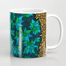 - blue flore in cosmogold - Coffee Mug