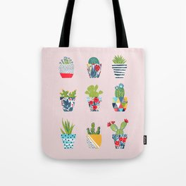 Funny cacti illustration Tote Bag