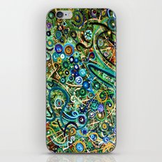 Green Scribbles iPhone & iPod Skin