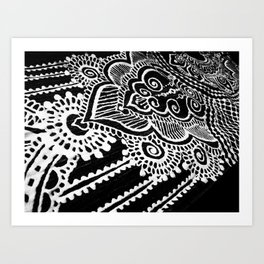 Mehndi on Denim print Art Print