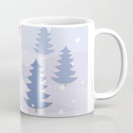 poodle dog santa y blue tree Coffee Mug