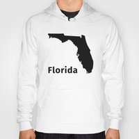 florida Hoodies featuring Florida by Fabian Bross