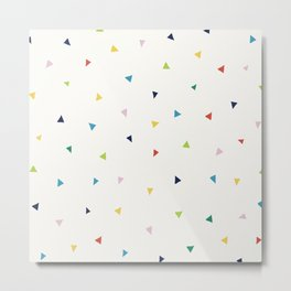 Cute Confetti Pattern Metal Print
