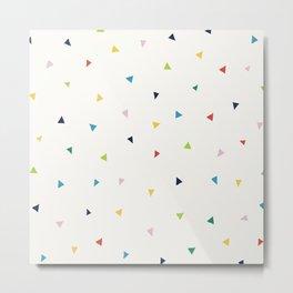 Cute Confetti Pattern Metal Print