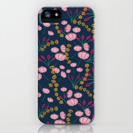 Dark blue pinky pattern iPhone Case