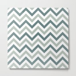 Classic Chevron in Shades of Gray Metal Print