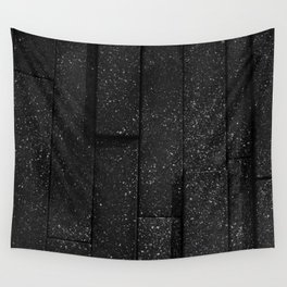 white speckled contrasted bricks - black and white Wall Tapestry