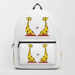 Giraffe Practicing Yoga - OM Backpack