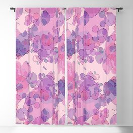 Boiling water in magenta: soft abstract digital art fashionable modern colors Blackout Curtain