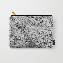Textured White Carry-All Pouch