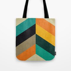 Minimalist and colorful chevron Tote Bag