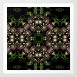 Fractal Wreath Art Print