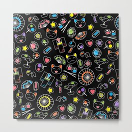 Kawaii Doodles Metal Print