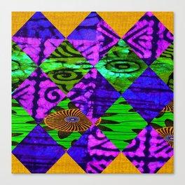 Mardi Gras African Print Canvas Print
