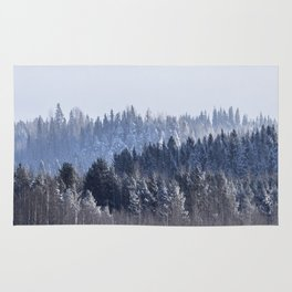 Blue shades in cold winter morning Rug