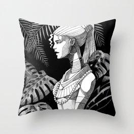 Jungle Girl Throw Pillow
