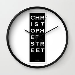 Christopher Street - NYC - Black Wall Clock