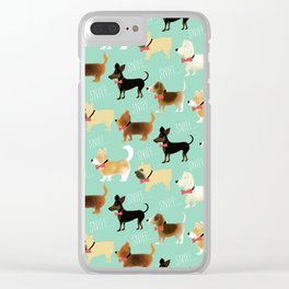 Lets sniff some butts Clear iPhone Case