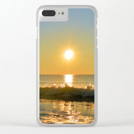 Shimmering Sunrise Clear iPhone Case