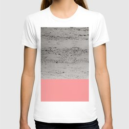 Light Coral on Concrete #2 #decor #art #society6 T-shirt