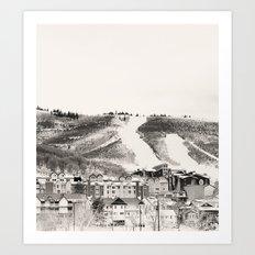 Ski Town Art Print