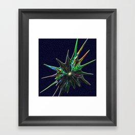 Fractal Splash Framed Art Print