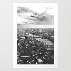 London Skyline BW Art Print