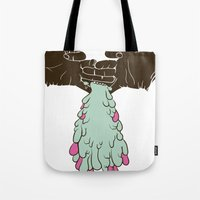 chuck Tote Bags featuring Chuck by Noponies