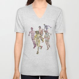 Naked Runners 2 Unisex V-Neck