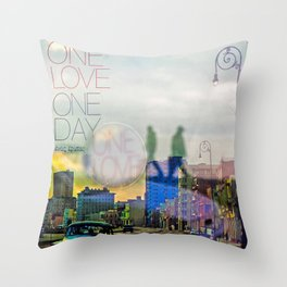 one love one day Throw Pillow