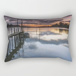 Sunset at Lima river in Portugal Rectangular Pillow