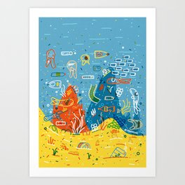 Plastic Sea Art Print
