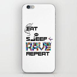 Eat Sleep RAVE Repeat iPhone Skin