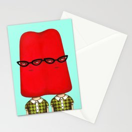 Siamese Twin Pop - Cherry Stationery Cards