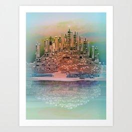 Memory Island Art Print