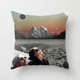 Black Horizon Throw Pillow