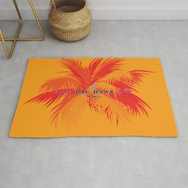 Pau Hana Domes Orange Rug